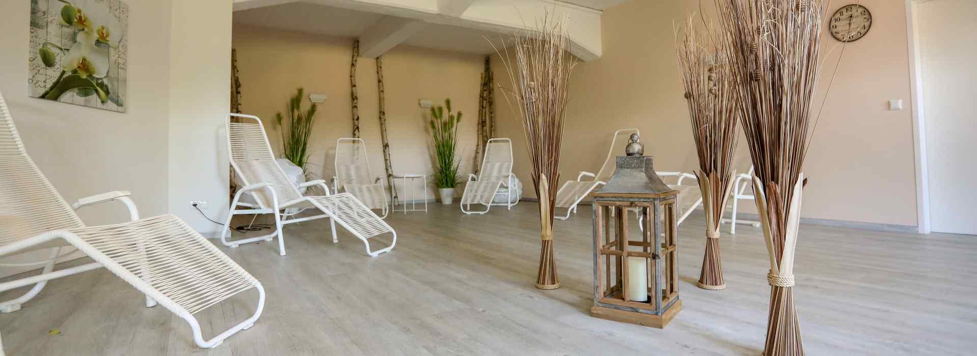 <small>Entspannung pur im</small>Wellnessbereich mit Sauna